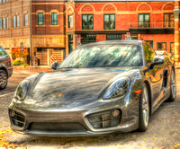 Porsche at Sunrise In Old Town Fort Collins, Colorado